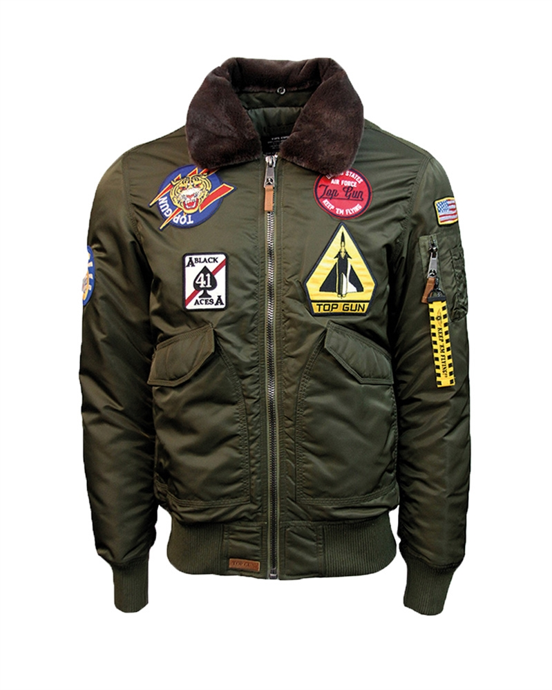 bunda Top Gun Flight Jacket Air Force zelená