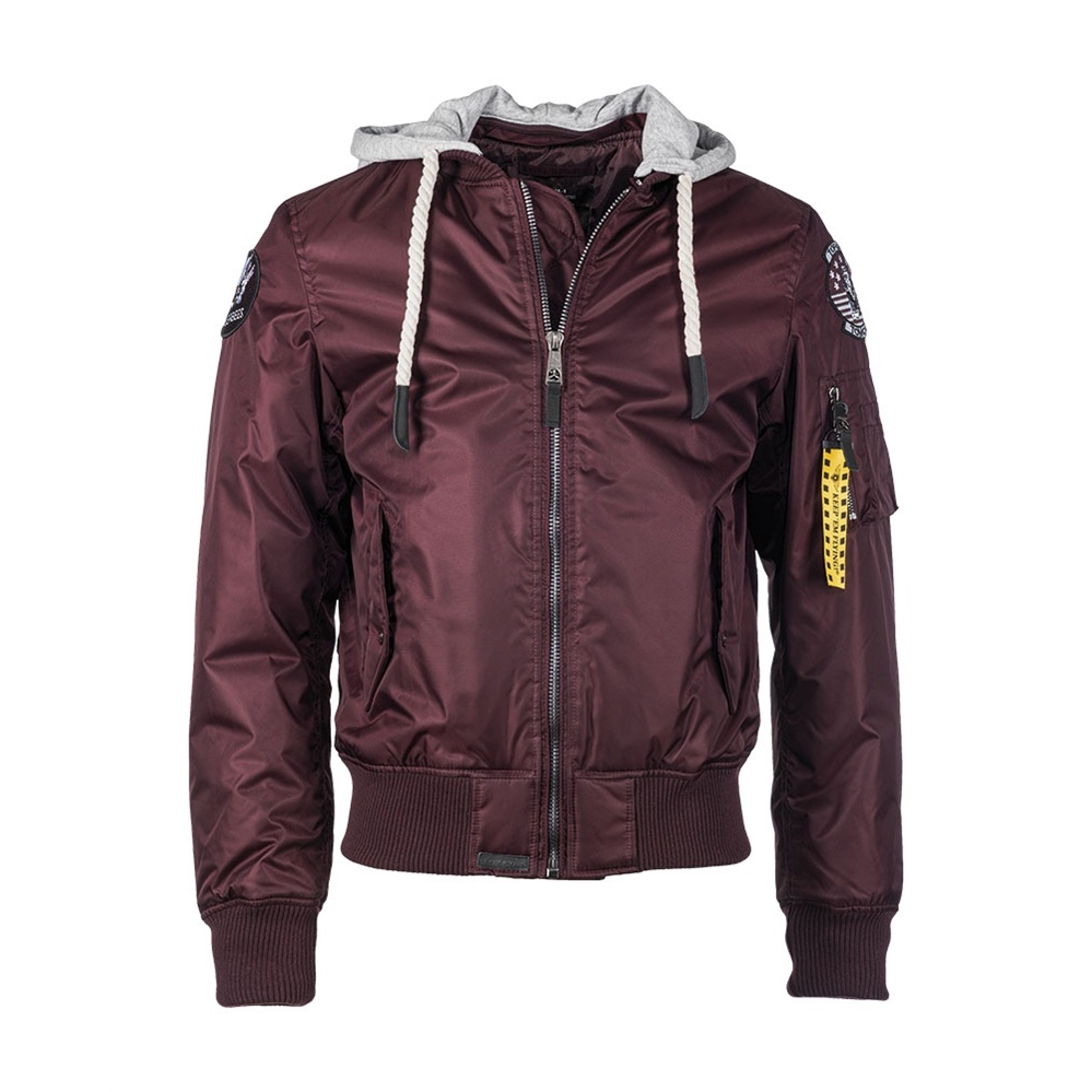 bunda Top Gun Flight Jacket Seabees bordeaux