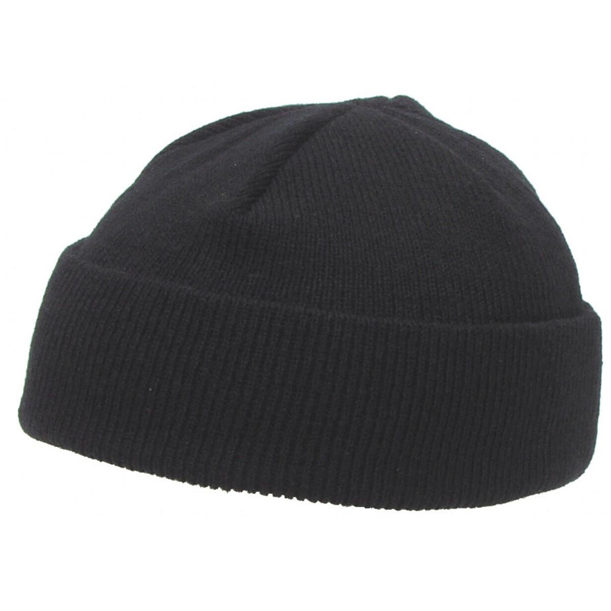 čepice kulich ROLL jemně pletená černá  20918d5add