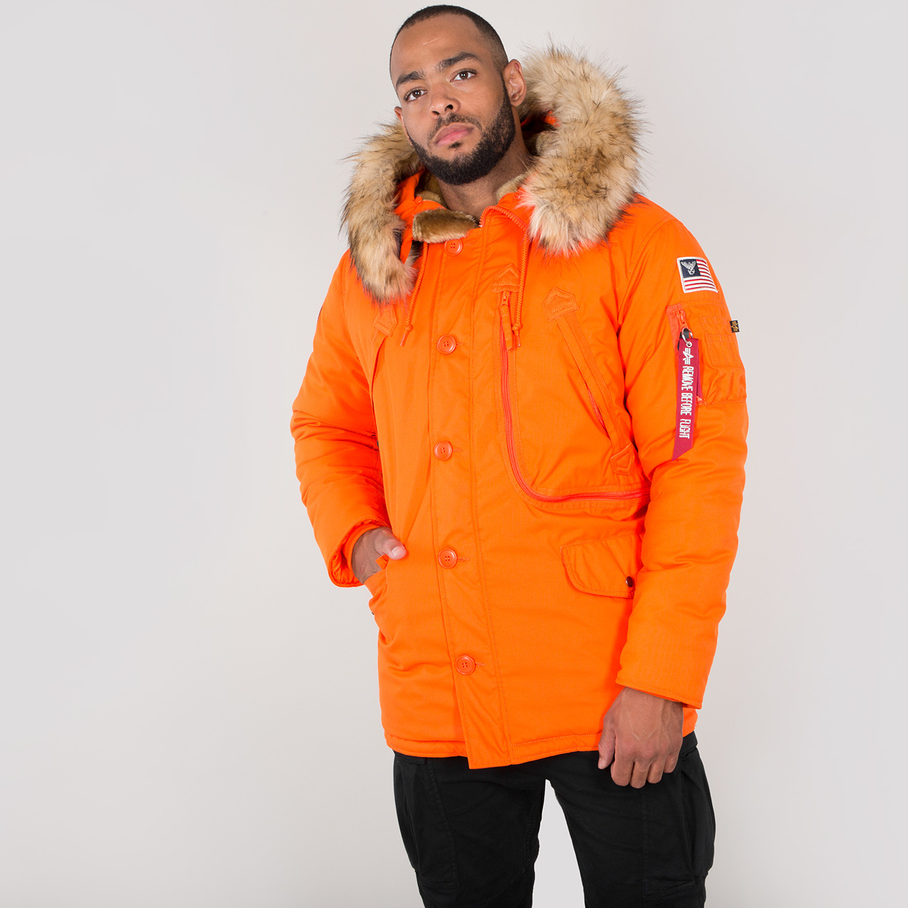 bunda POLAR JACKET flame orange