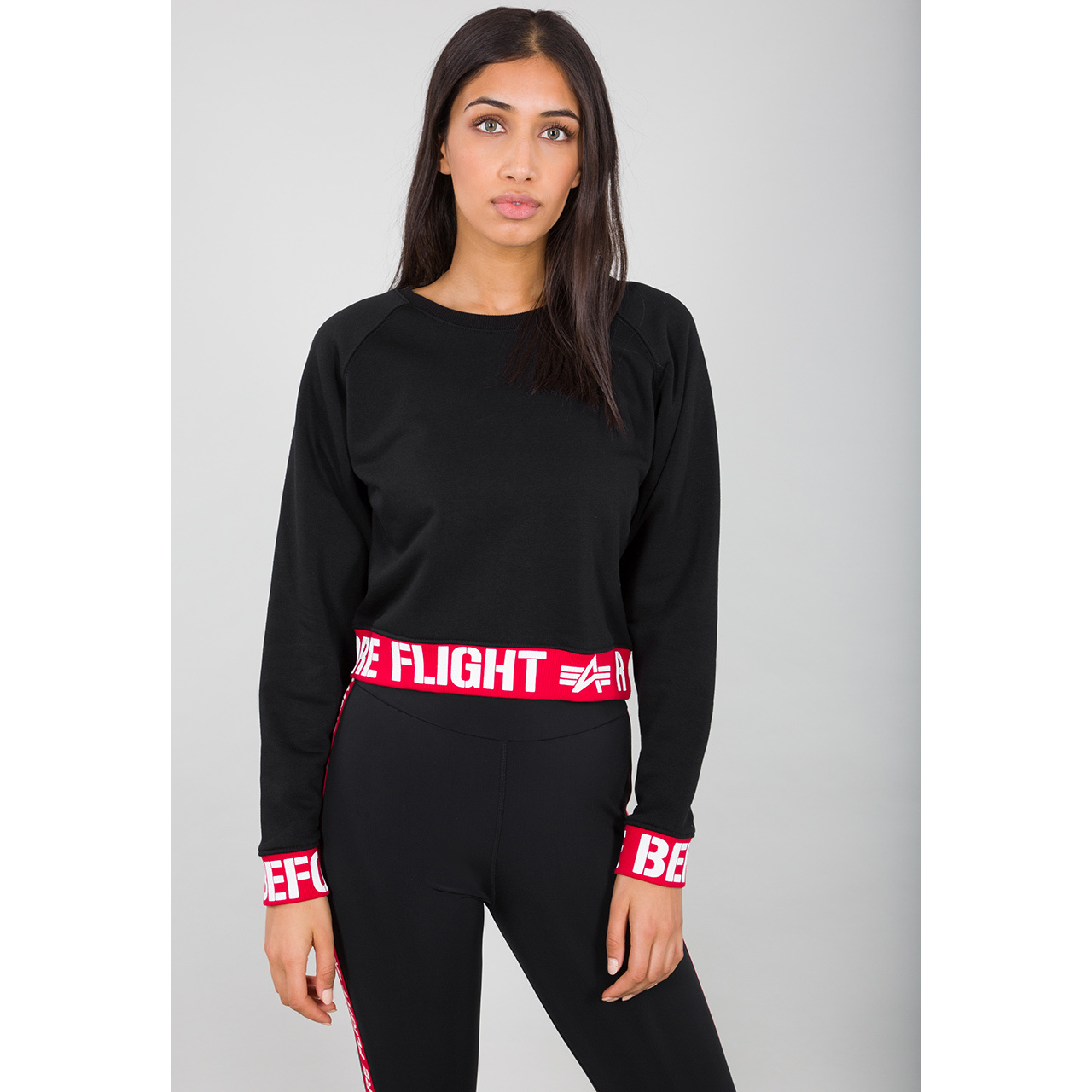 mikina RBF Cropped Sweater WMN black