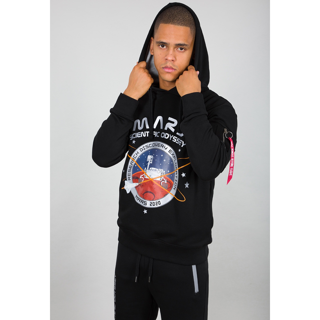 mikina Mission To Mars Hoody black