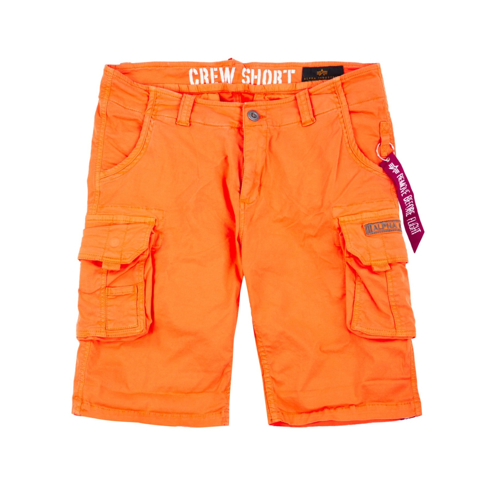 kraťasy CREW SHORT flame orange