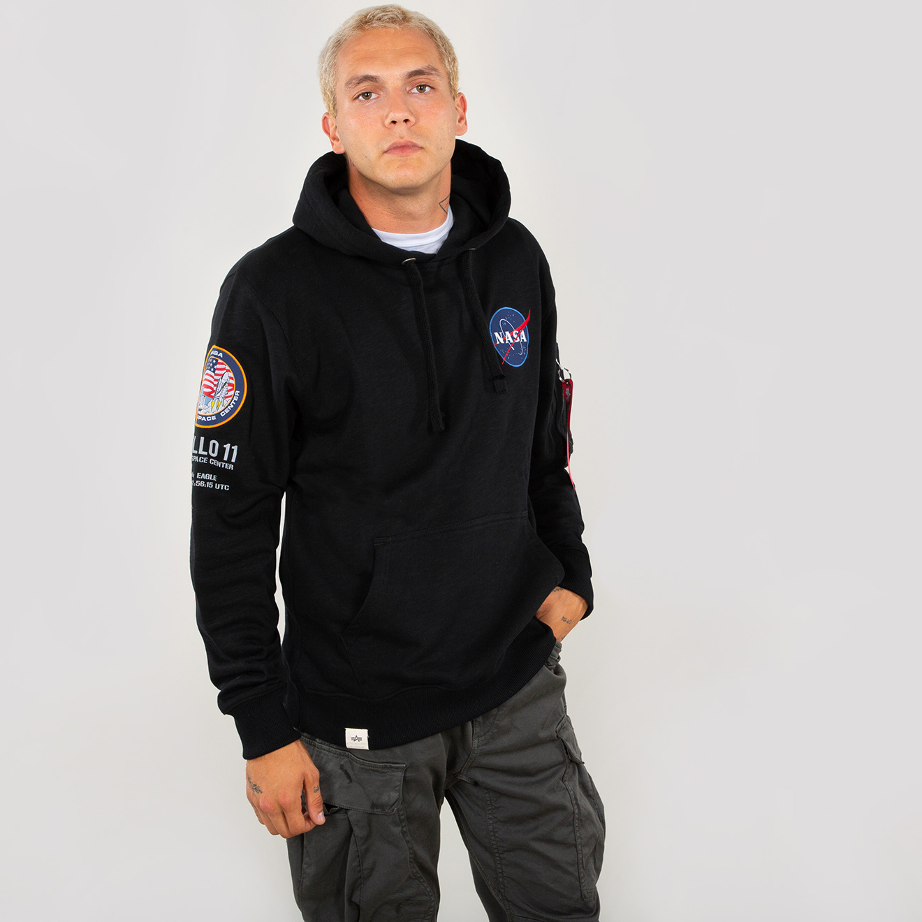 mikina APOLLO 11 HOODY black