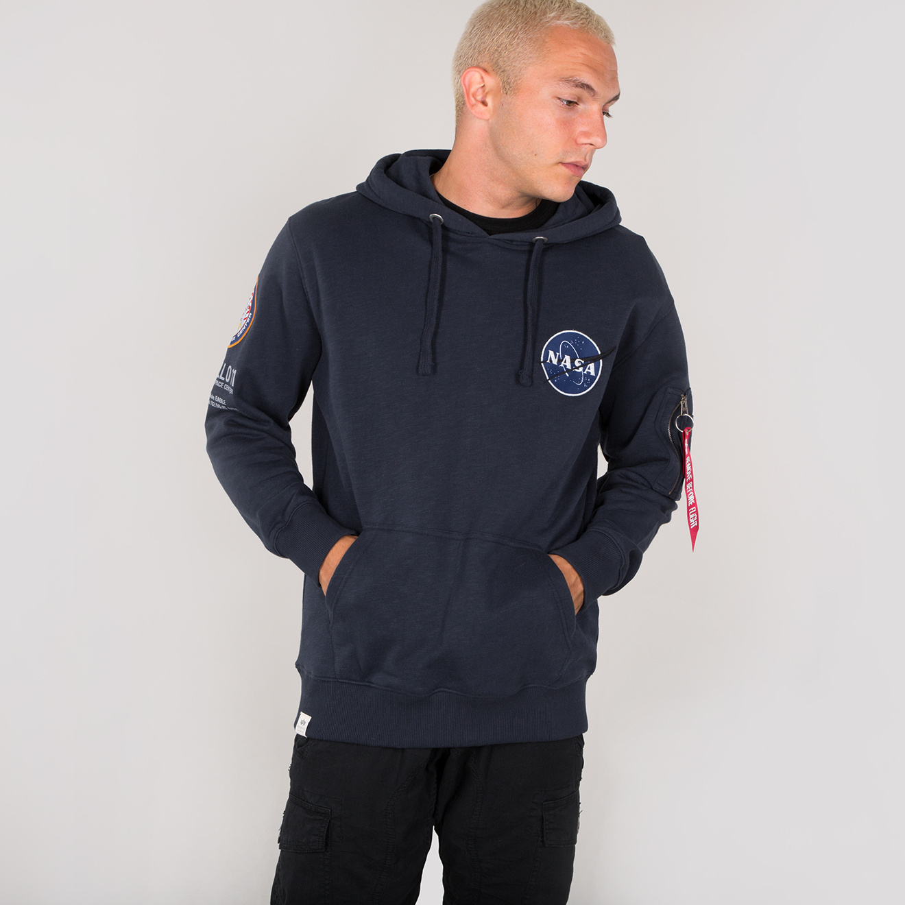 mikina APOLLO 11 HOODY rep.blue