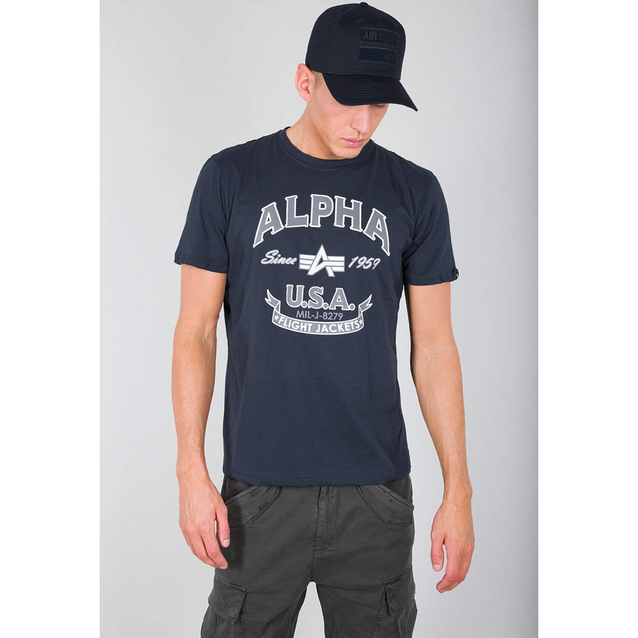 tričko ALPHA FJ T new navy