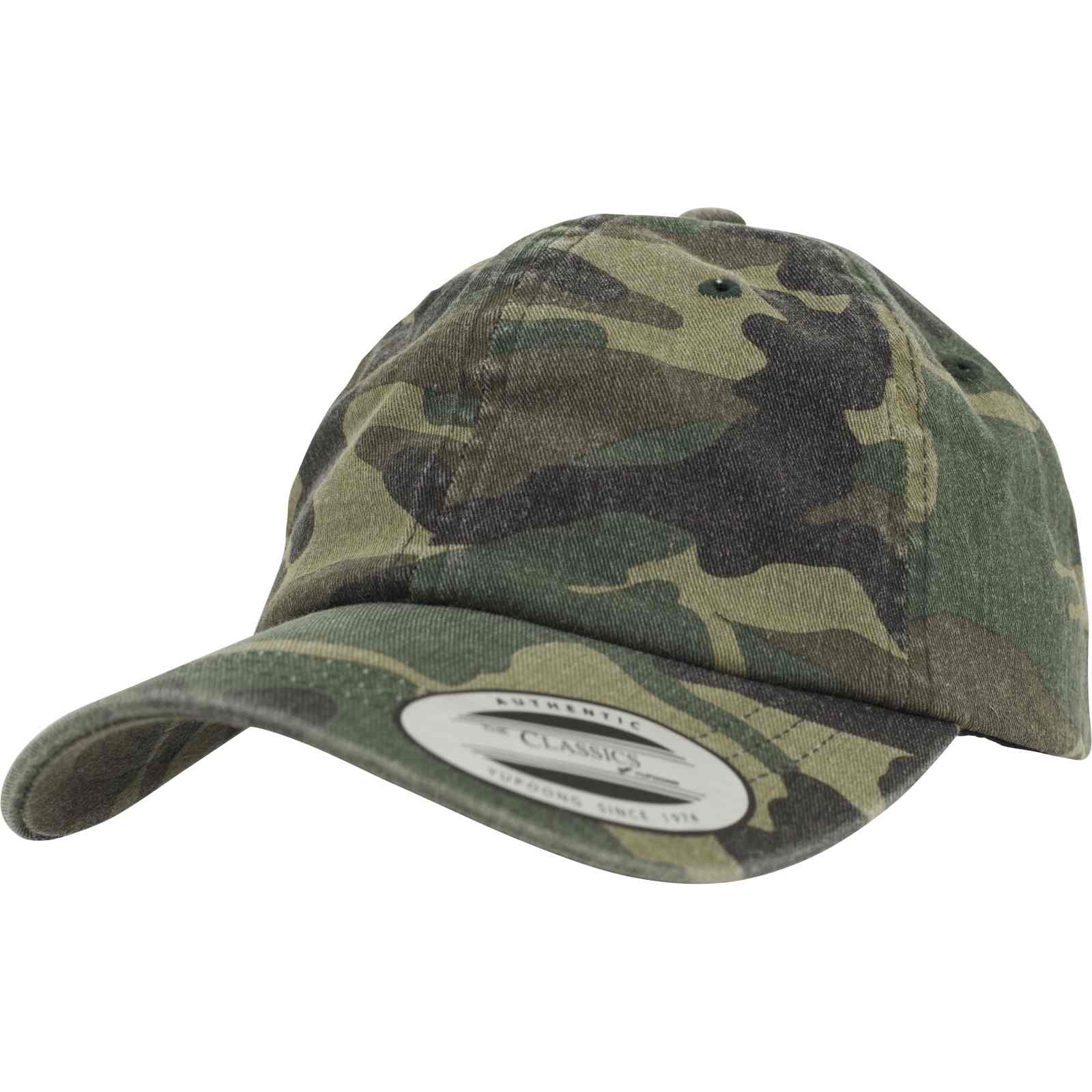 čepice LOW PROFILE CAMO WASHED woodland